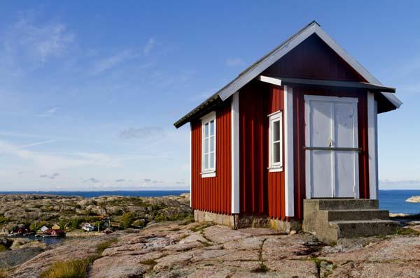 Ein Ferienhaus in Schweden am Meer